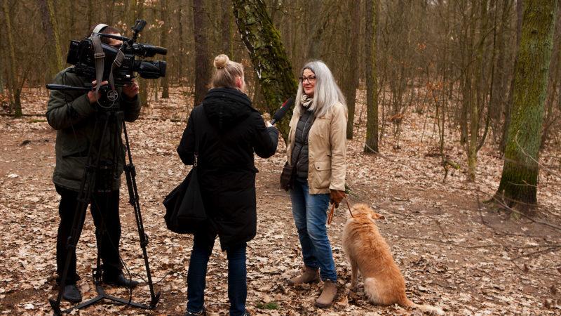 Foto vom Interview mit Beate Fischer, Pressesprecherin der BI Berliner Schnauzen e.V.